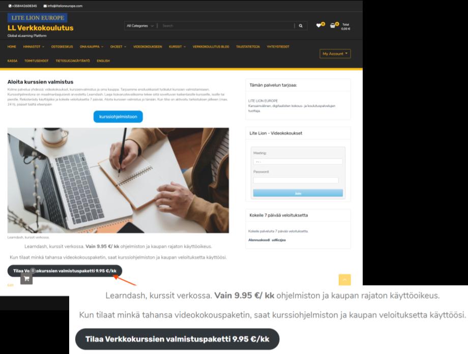 LMS Käyttöohjeita Ohjeita verkkokurssin ohjaajalle